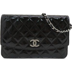 Authentic Chanel Quilted CC Chain Shoulder Bag